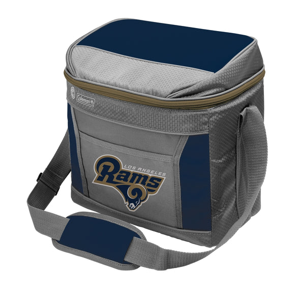 Los Angeles Rams 16 Can Soft Sided Cooler - Diamond Home USA