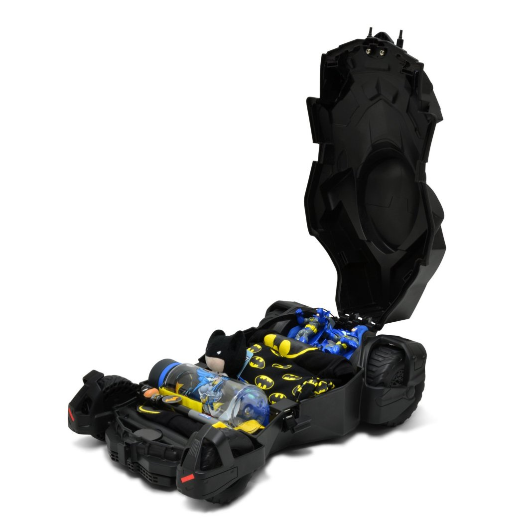 Kids Black Batman Batmobile Theme Wheeled Upright Rolling Suitcase 3D Design Super Heroes Pattern Car Carry Travel Wheeled Suit Bag Wheels Wheeling - Diamond Home USA