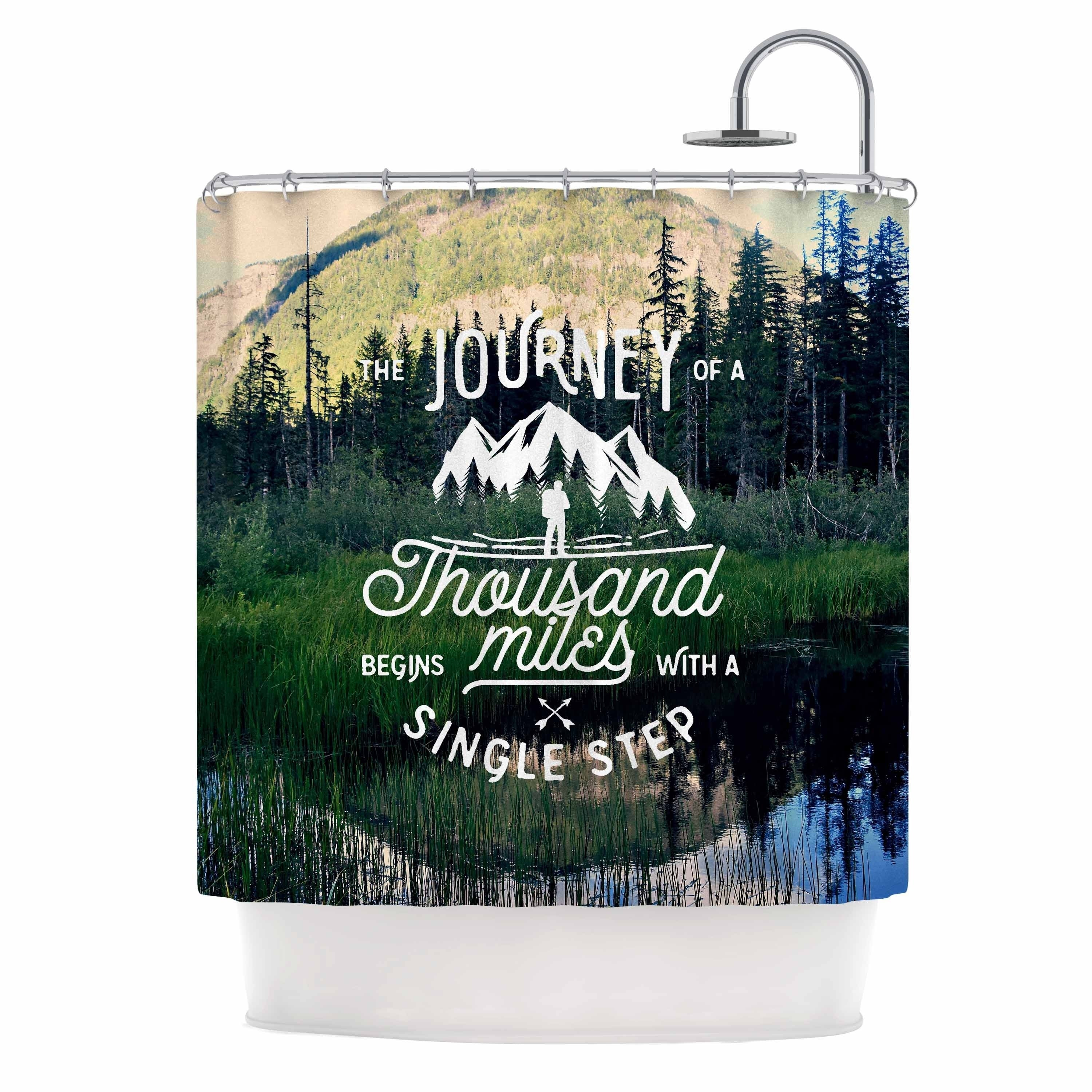 "Robin Dickinson "" The Journey"" Blue Green Photography Shower Curtain Polyester - Diamond Home USA"