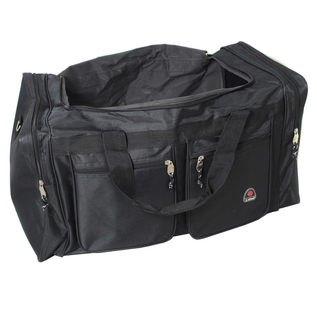 Black Xtra Large Duffle Bag 32 inch Large Lightweight Cargo Duffel Bag Versatile Features Spacious Interior Compartment Plus Exterior easy Access - Diamond Home USA