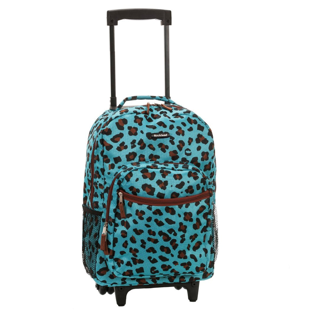 Girls Leopard Backpack Animal Pattern Cheetah Dots Themed Carry
