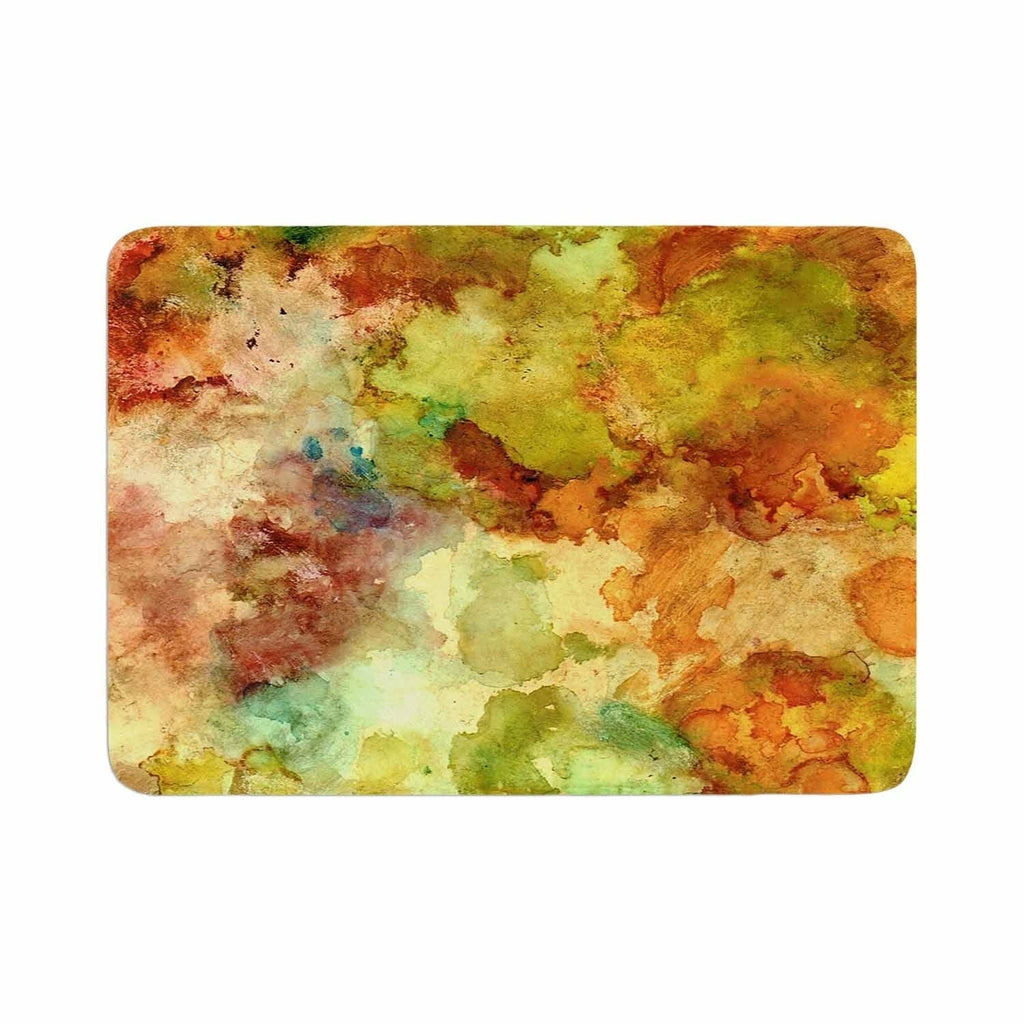 "Rosie Brown ""Fall Bouquet"" Memory Foam Bath Mat Orange Single Piece - Diamond Home USA"