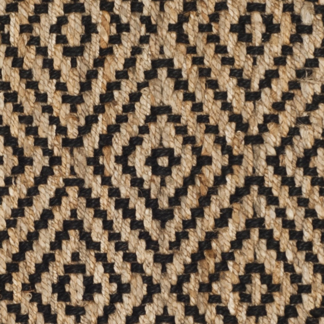 2'3 x 8' Brown Tan Geometric Runner Rug Rectangle Black Diamond Pattern Hallway Carpet Southwest Theme Carpeting Rustic Themed Entryway Living Area - Diamond Home USA
