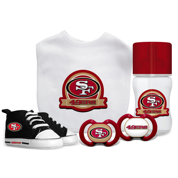 San Francisco 49ers 5 Pc Infant Gift Set - Diamond Home USA