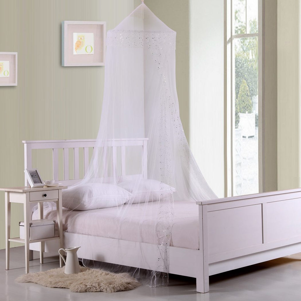 Childrens Girls See Through Pretty Princess Canopy Bed Frame ...