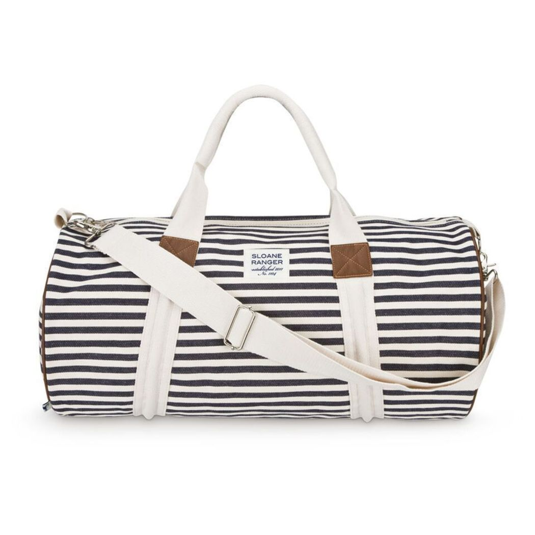 Horizontal Striped Carry Duffel Bag Stripe Luggage Stripes Themed
