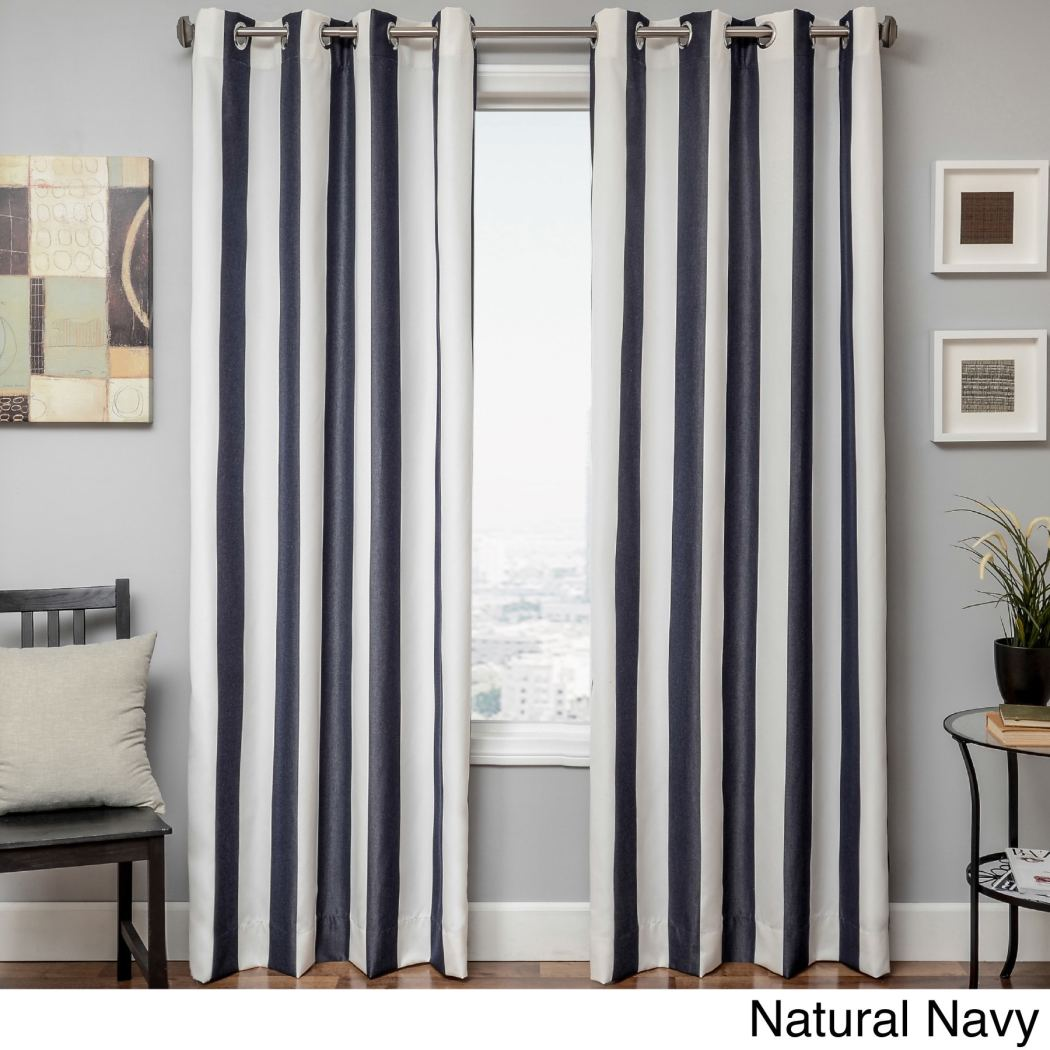 Stripe Gazebo Curtain Single Panel Striped Pattern Rugby Outside Outdoor Pergola Drapes Porch Deck
