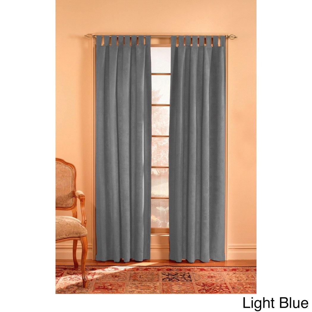 Girls Microsuede Wide Curtain Panel Allover Pattern Window Drapes Kids Themed Tab Top Playful Luxurious Polyester