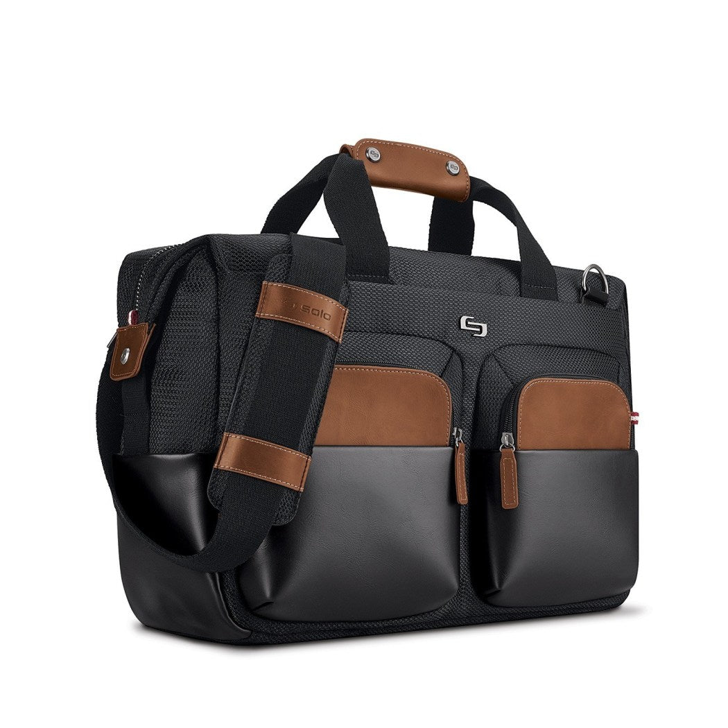 Black Brown Attorney Briefcase Fashionable Litigation Business Professionals - Diamond Home USA