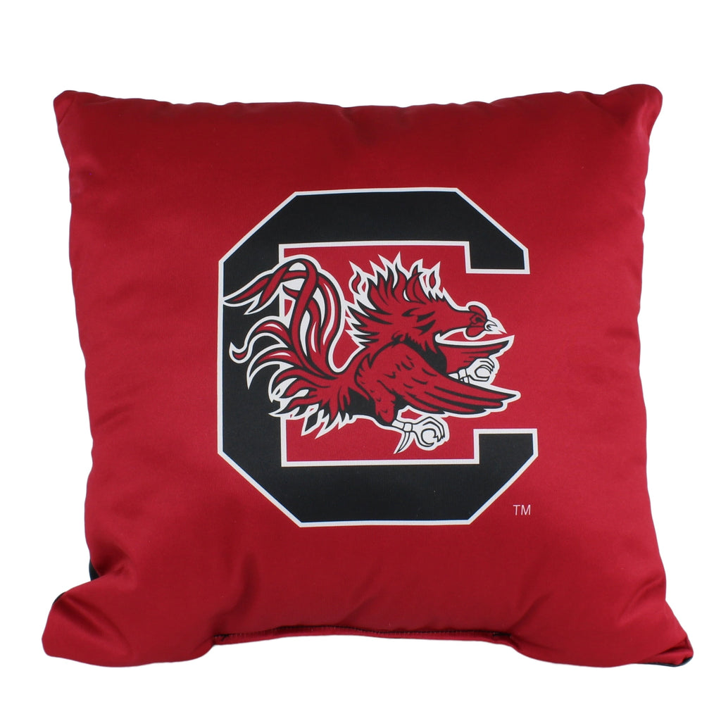 South Carolina Gamecocks 16 Inch Decorative Throw Pillow Multi Color Sports Traditional Polyester One Single Reversible - Diamond Home USA