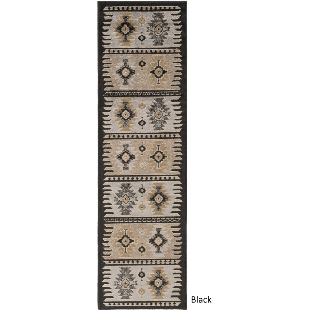 Southwest Theme Runner Rug Rectangle Tribal Pattern Hallway Carpet Native American Aztec Entryway Chevron Zigzag