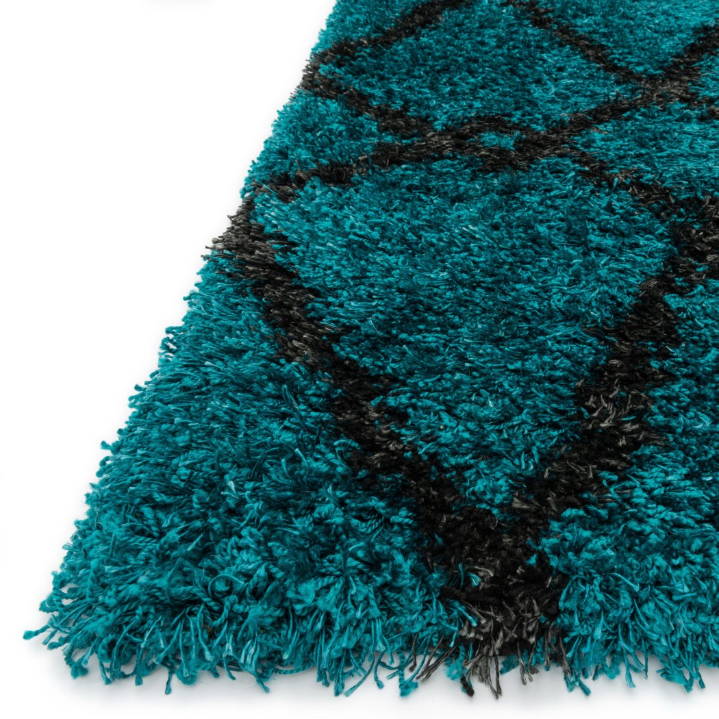 3'9 x 5'6 Diamond Shaggy Beach Towel Area Rug Polypropylene Lakeside Shag Water Cottage Cabin Cute Calm Nature Kid Tween