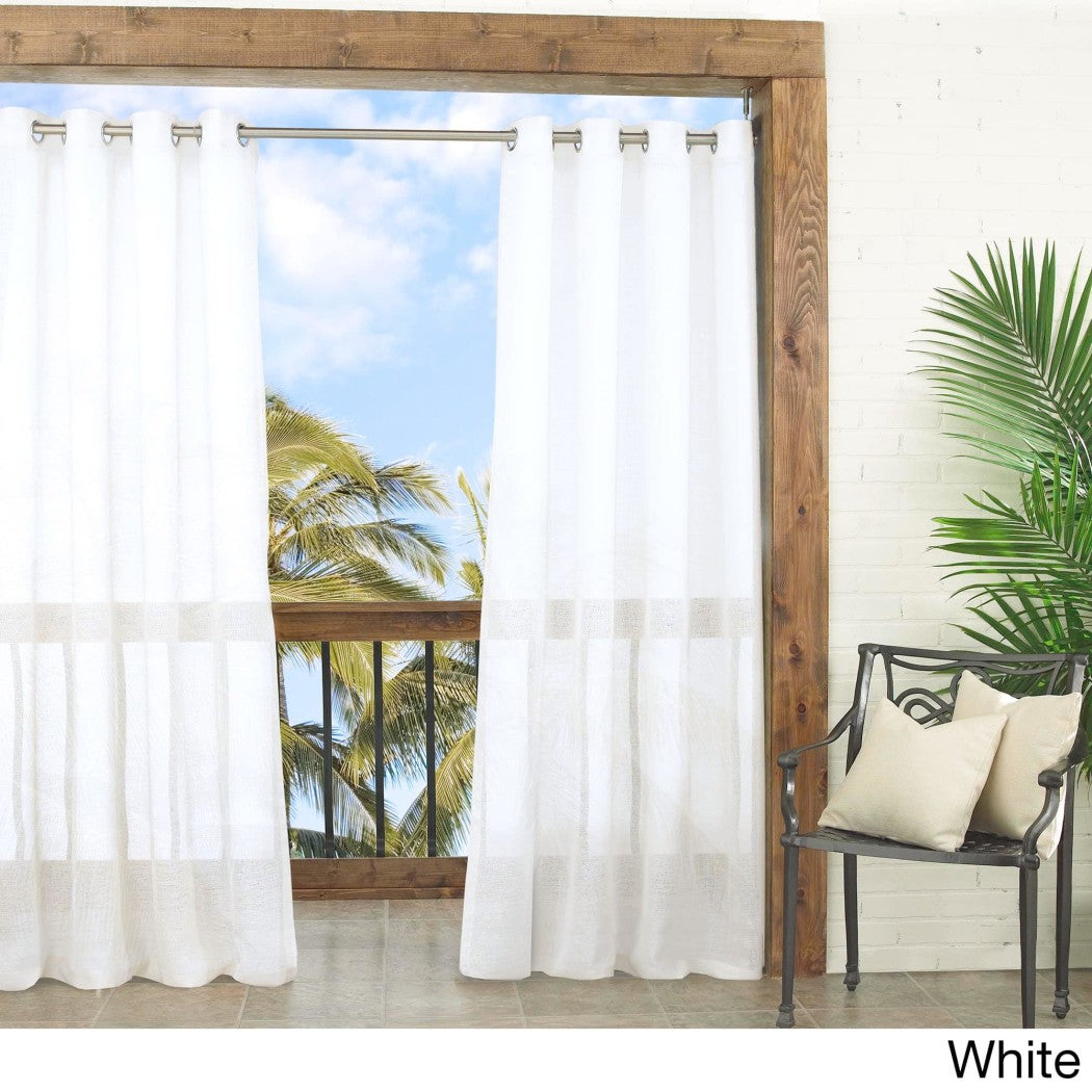 Gazebo Curtain Single Panel Off Pattern Rugby Outside Outdoor Pergola Drapes Porch Deck Cabana Patio
