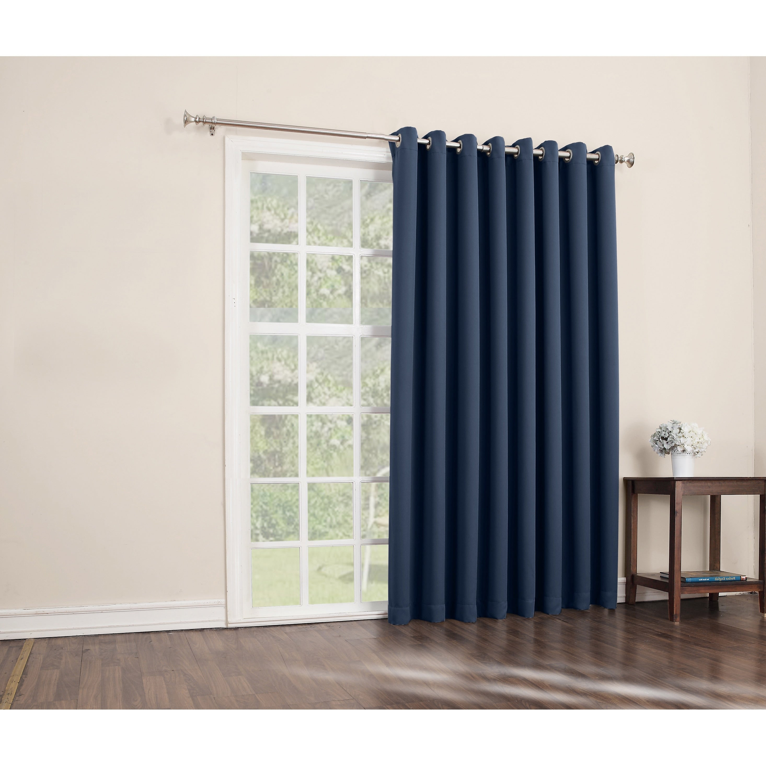 Barley Sliding Door Curtain Sliding Patio Door Panel Window Treatment Single Panel Modern Design Contemporary Curtains