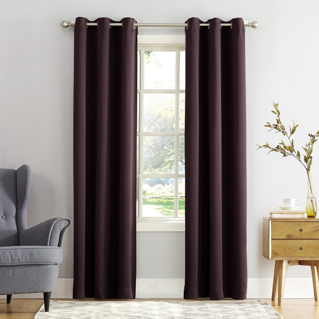 Barley Faux Silk Taffeta Window Curtain Single Panel Fabrics Window Treatment Blackout Energy Efficient Lined