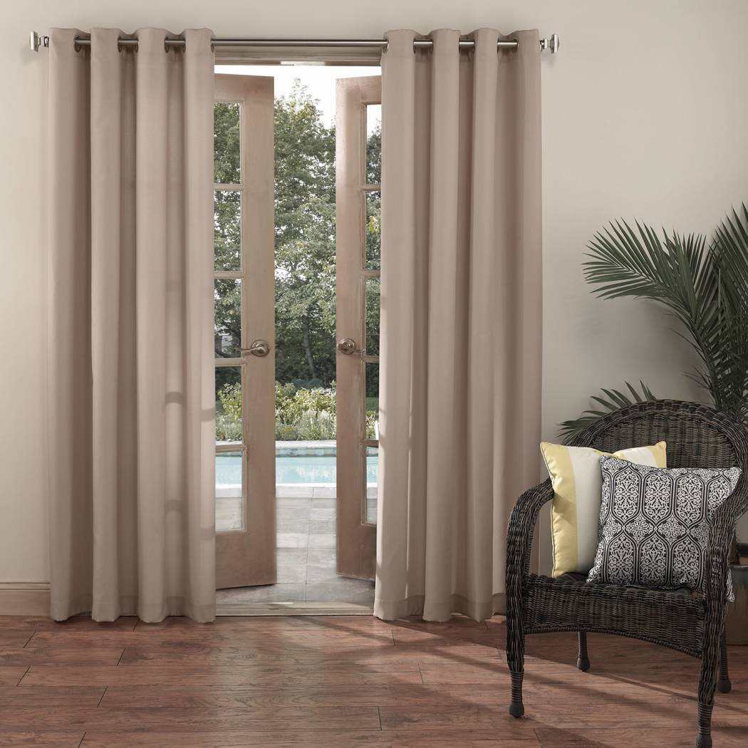 Gazebo Curtain Single Panel Pattern Rugby Outside Outdoor Pergola Drapes Porch Deck Cabana Patio Screen