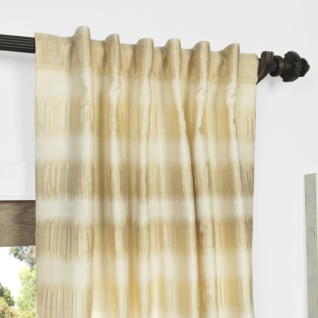 Girls Jacquard Stripes Curtain Single Panel Drapes Striped Pattern Window Treatments Stylish Casual Themed