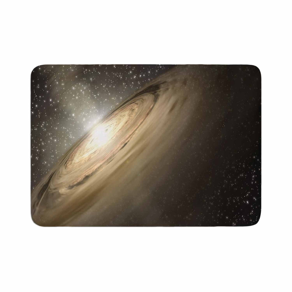 "Suzanne Carter ""Galaxy"" Memory Foam Bath Mat Brown Single Piece - Diamond Home USA"