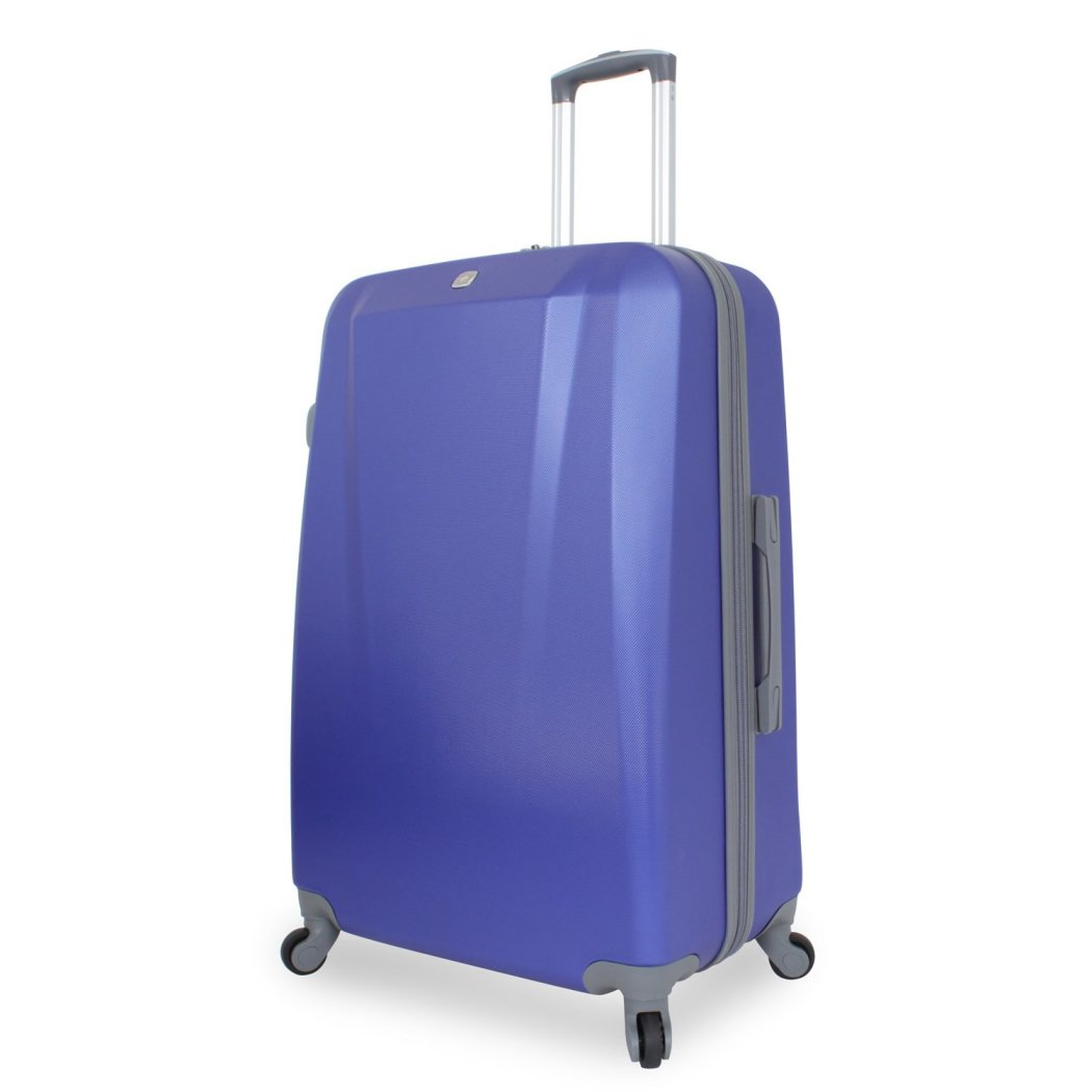 Blue Lightweight Wheeled Briefcase Solid Hardsided ABS Spinner Wheels - Diamond Home USA