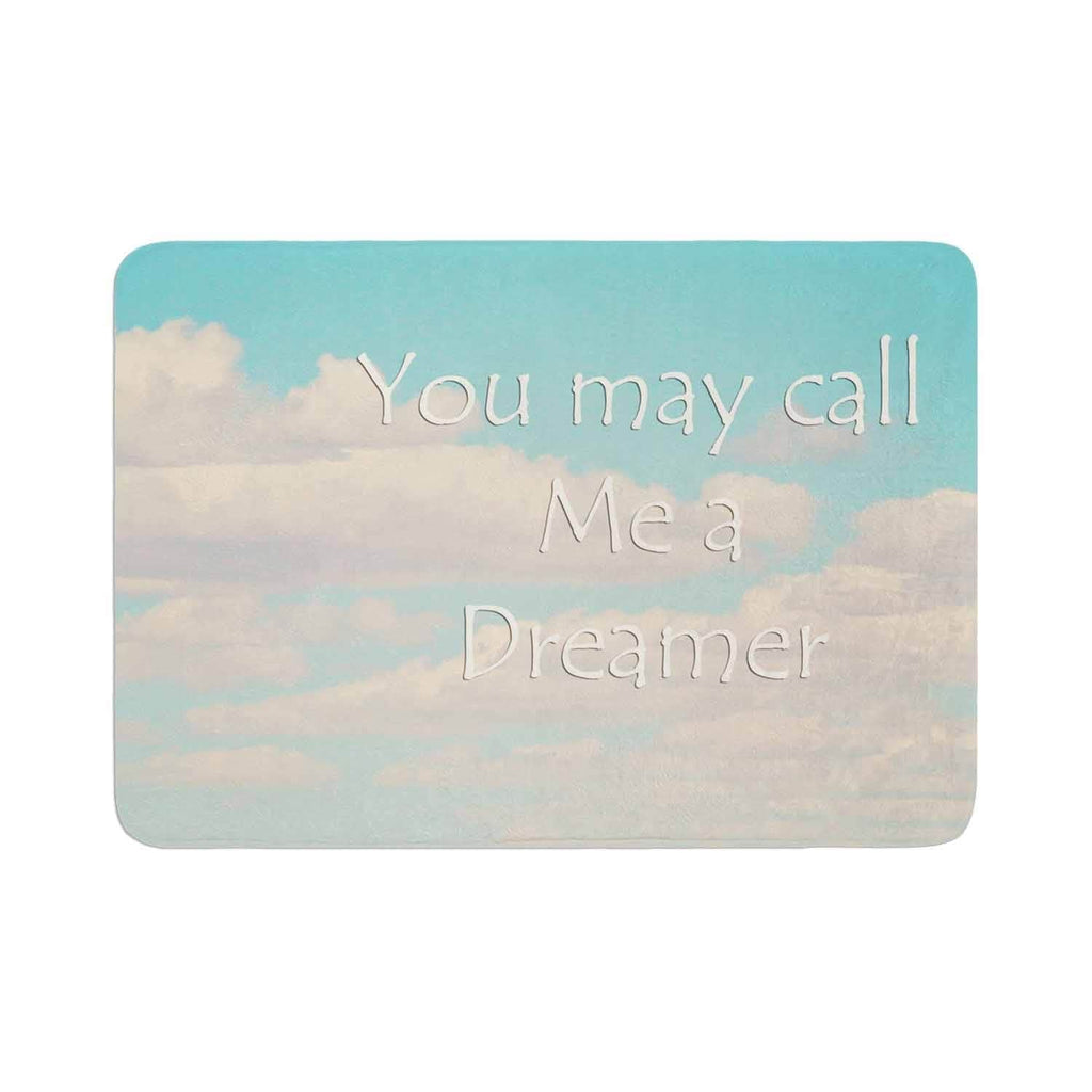 "Sylvia Coomes ""You May Call Me A Dreamer"" Memory Foam Bath Mat Black Single Piece - Diamond Home USA"