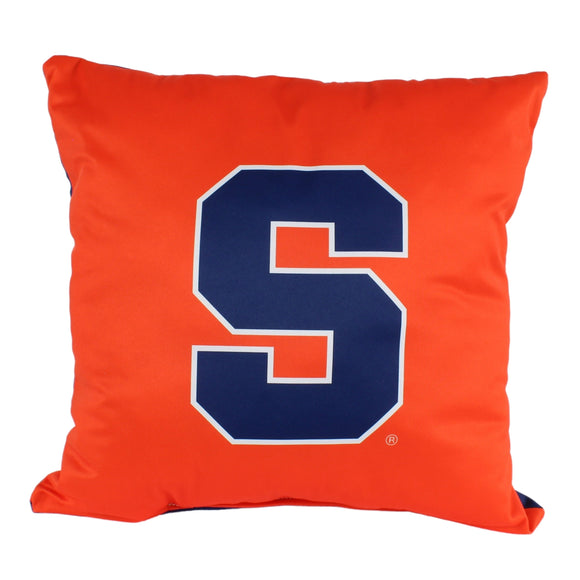 Syracuse Orange 16 Inch Decorative Throw Pillow Multi Color Sports Traditional Polyester One Single Reversible - Diamond Home USA