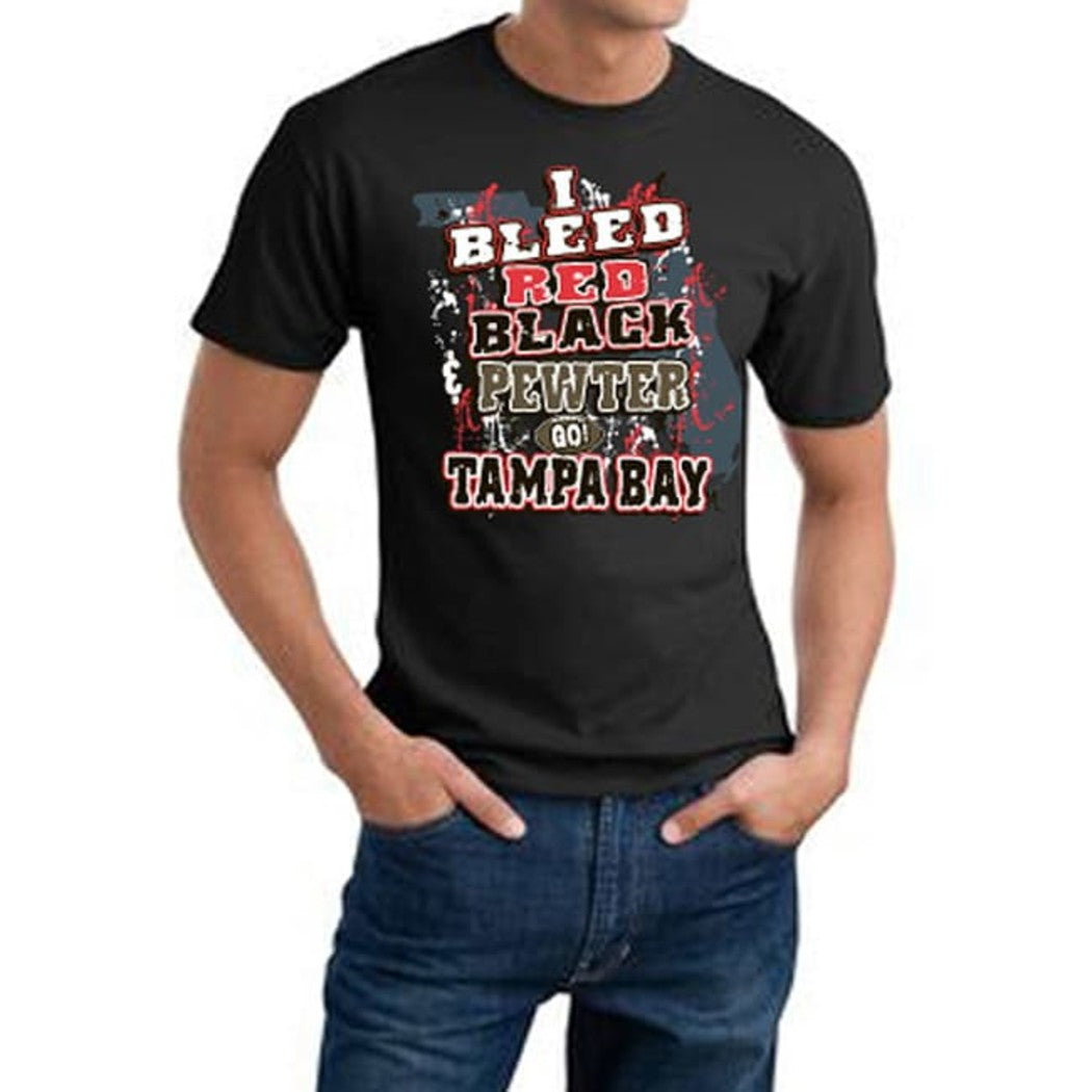 Mens NFL Buccaneers T Shirt Extra Large Double Football Sports Tee Football Themed Clothing I Bleed Slogan Team