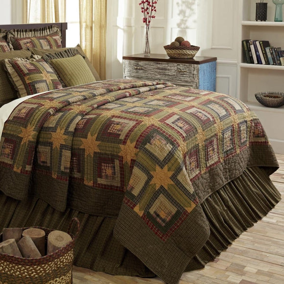 HandQuilted Plaid Patchwork Pattern Quilt Luxurious Cabin Lodge Block HighEnd Stitching Work Bedding Classic Splash Cotton