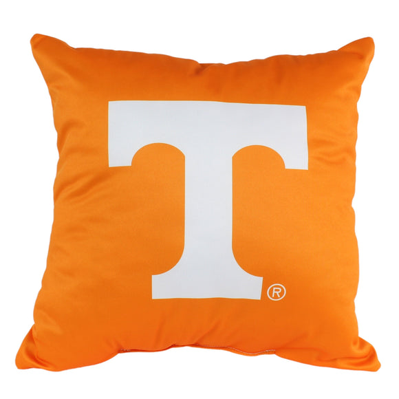 Tennessee Volunteers 16 Inch Decorative Throw Pillow Multi Color Sports Traditional Polyester One Single Reversible - Diamond Home USA