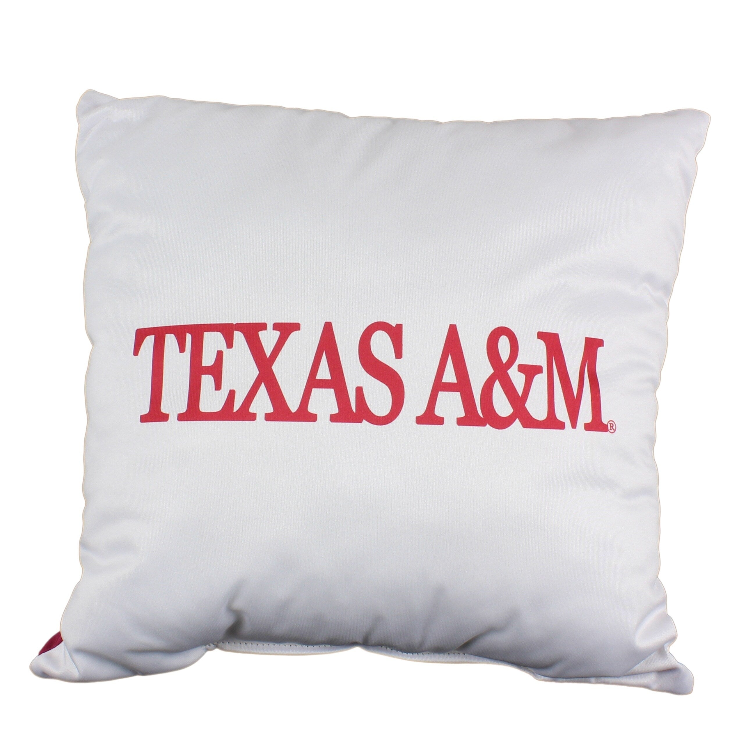Texas A M Aggies 16 Inch Decorative Throw Pillow Multi Color Sports Traditional Polyester One Single Reversible - Diamond Home USA