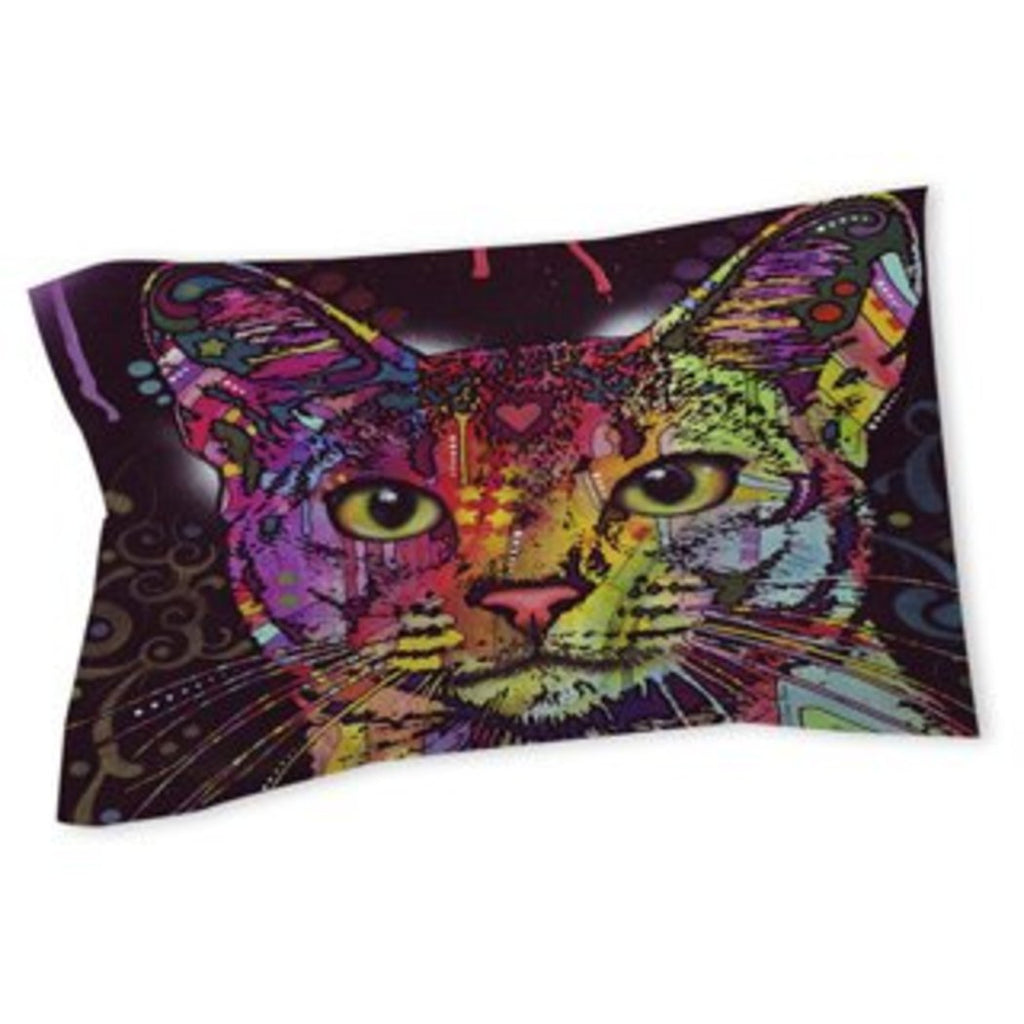 ful Rainbow Mountain Cat Pillow Abstract Big Kitty Cat Themed Bohemian Heart Cotton