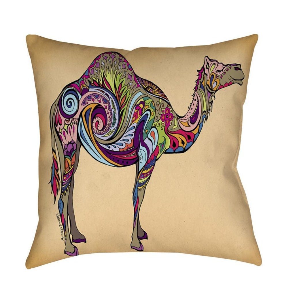 Animal Throw Pillow Square Shape Animal Themed Design Casual Accent Type Spot Clean Eco Friendly Polyester All