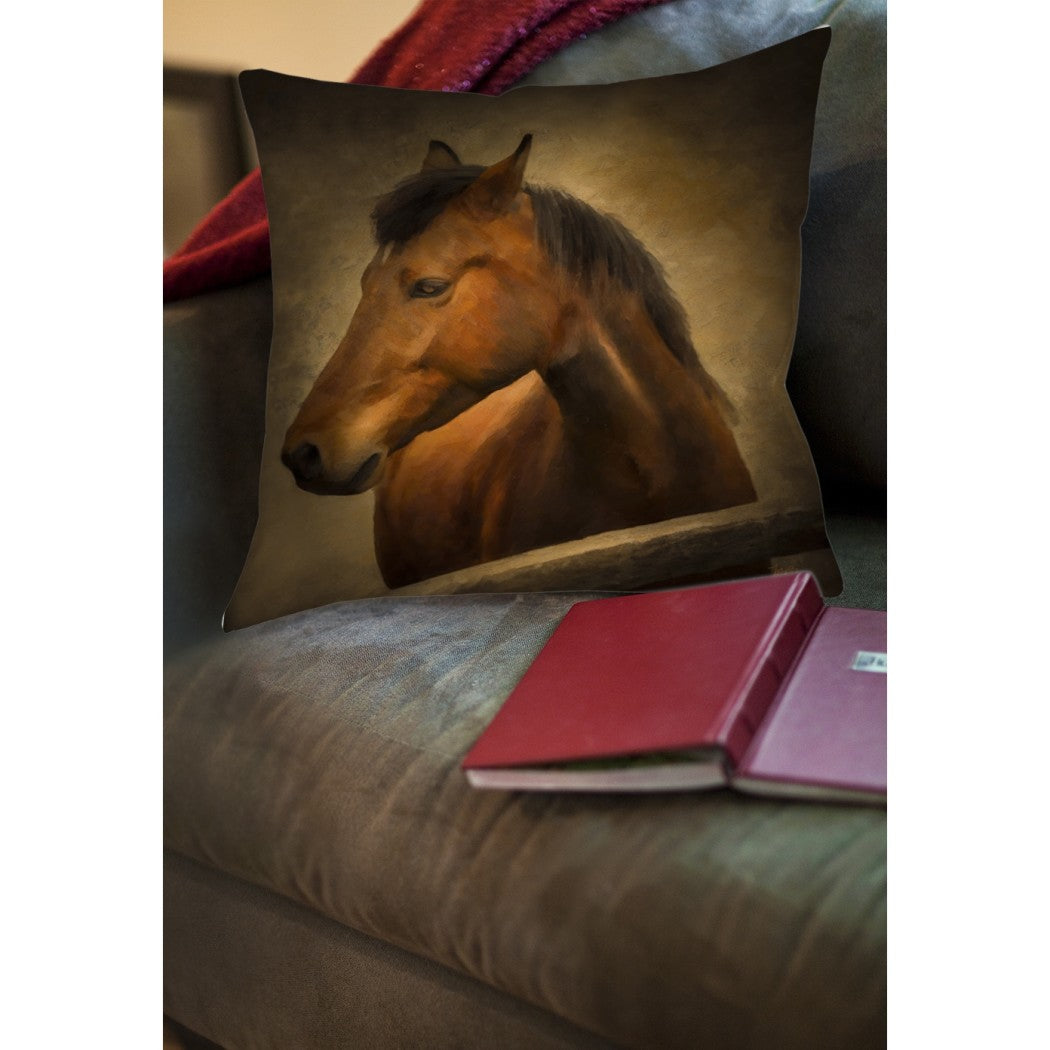 Horse Animal Throw Pillow Square Shape Contemporary Modern Graphic Pattern Accent Type Spot Clean Eco Friendly Polyester