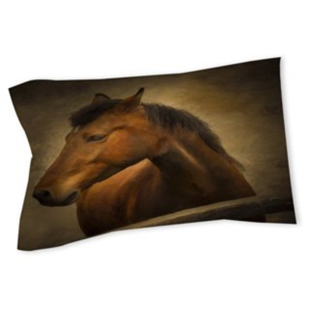 Horse Themed Pillow Stallion Pony Country Farm Ranch Pattern Animal Horses Lover Fence Girls Cotton Polyester