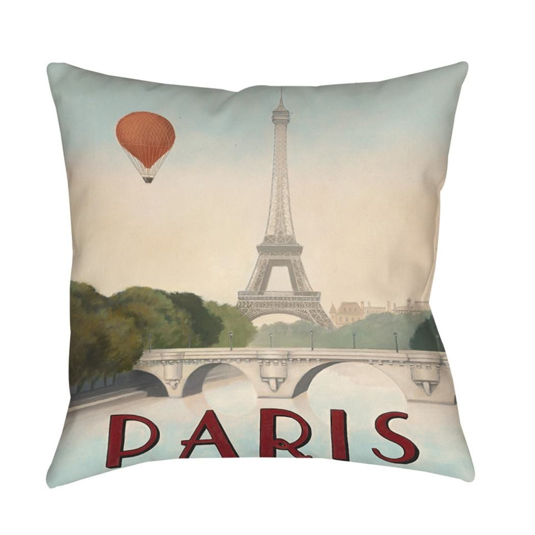 City line Maroon Pillow Casual Square Shape Spot Clean Care Accent Type Graphic Indoor Outdoor Use Polyester