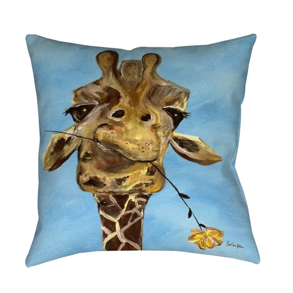 Craig Giraffe Animal Throw Pillow Animal Themed Design Square Shape Contemporary Modern Accent Type Spot Clean Bedding