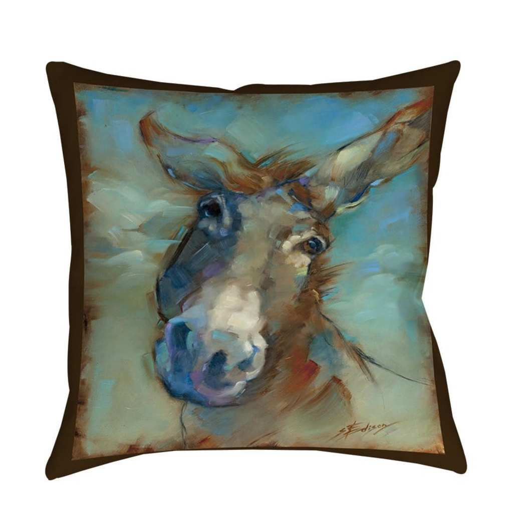 Donk O Lena Horse Animal Throw Pillow Square Shape Casual Accent Type Spot Clean Bedding All Seasons Eco Friendly