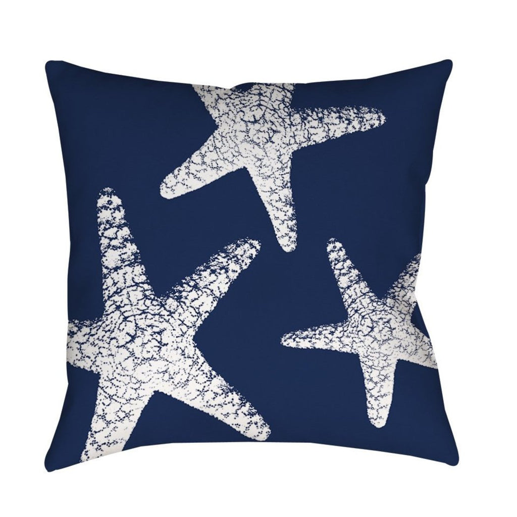 Starfish Theme Throw Pillow Coastal Pattern Sofa Pillow Sea Animal Cushion Ocean Nature Nautical Design Square Shape Vibrant