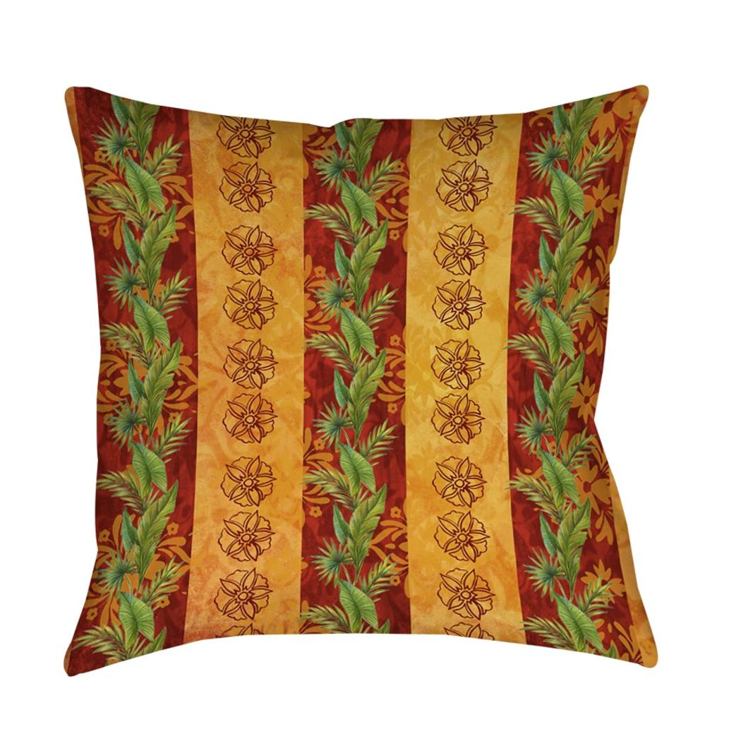Thumbprintz Palms Decorative Tropical Throw Pillow Floral Pattern Square Shape Accent Type Polyester Eco Friendly Spot Clean