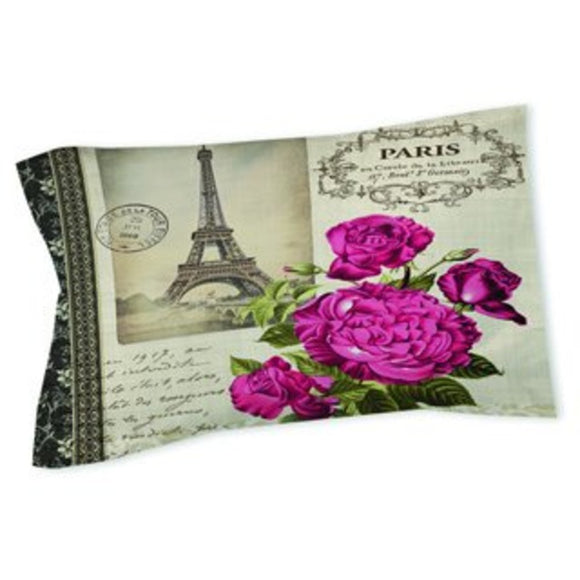 Paris Themed Pillow Eiffel Tower Pattern France Inspired French Theme Art Graphic Cotton/Polyester