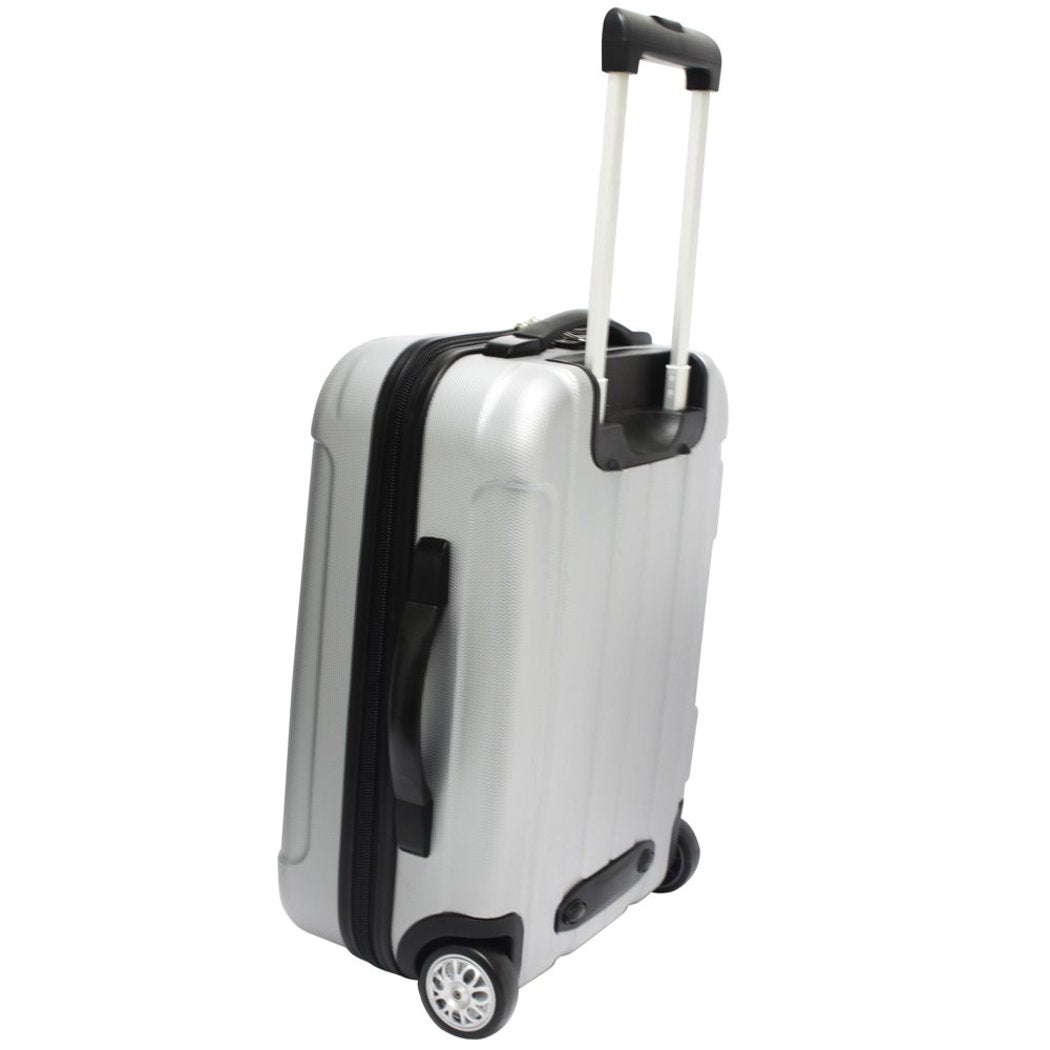 Hardcover Briefcase Hardside Carry Upright Suitcase Checkpoint Friendly Locking Compartment Telescoping Handle Lightweight Rolling Solid