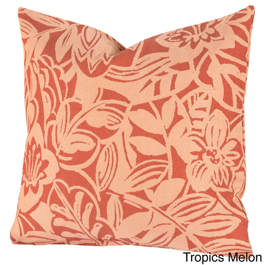 Garden Flowers Theme Floor Pillow Bohemian Motif Floral Throw Pillow Adorable Fun boho Chic Hippie Bright Removable Cover