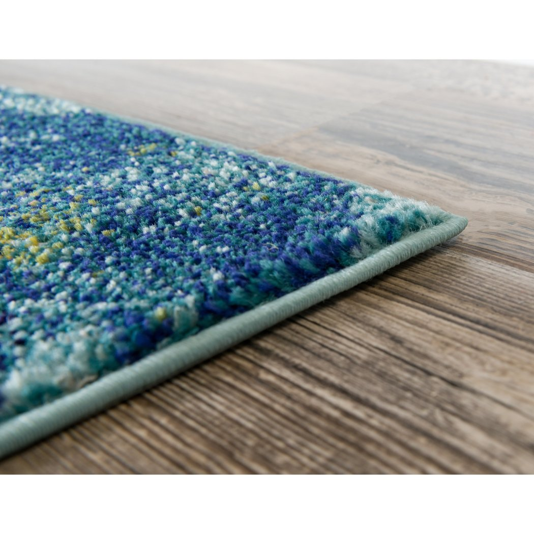5x8 Blue Pink Ocean Starfish Area Rug Rectangle Indoor Navy Ocean Star Fish Carpet Living Room Nautical Coastal Cottage Lake House Water Seashells - Diamond Home USA