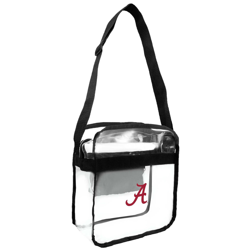 University of Alabama Crimson Tide Clear Carryall Cross Body Bag multi - Diamond Home USA