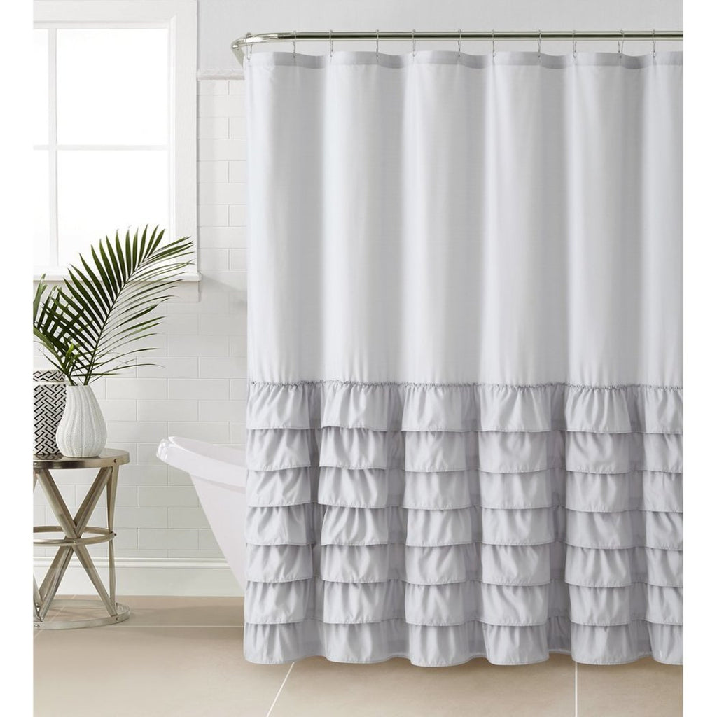 Gypsy Ruffle Shower Curtain Bohemian Ruffled Pattern Layered Overlapping Ruffles Gypsies Hippie Themed Hippy Layers Polyester