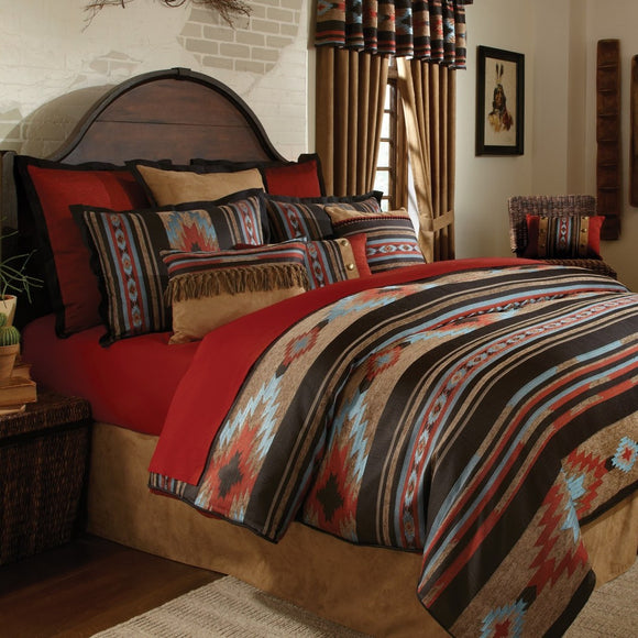 Southwest Comforter Set Native American Cultural South West Bedding Tribal Geometric Motifs Indian Aztec Themed Pattern Aztec Western