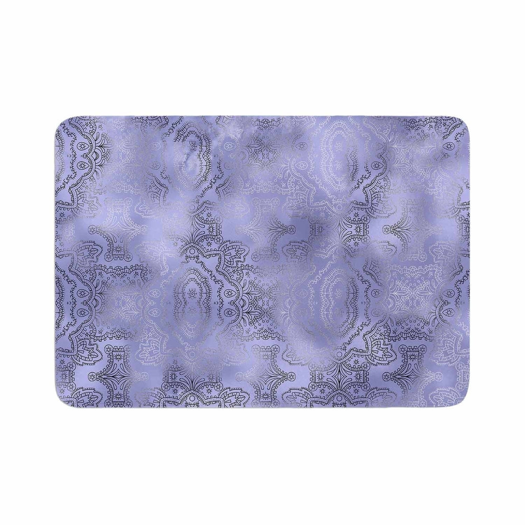"Victoria Krupp ""Misty Damask"" Memory Foam Bath Mat Purple Single Piece - Diamond Home USA"
