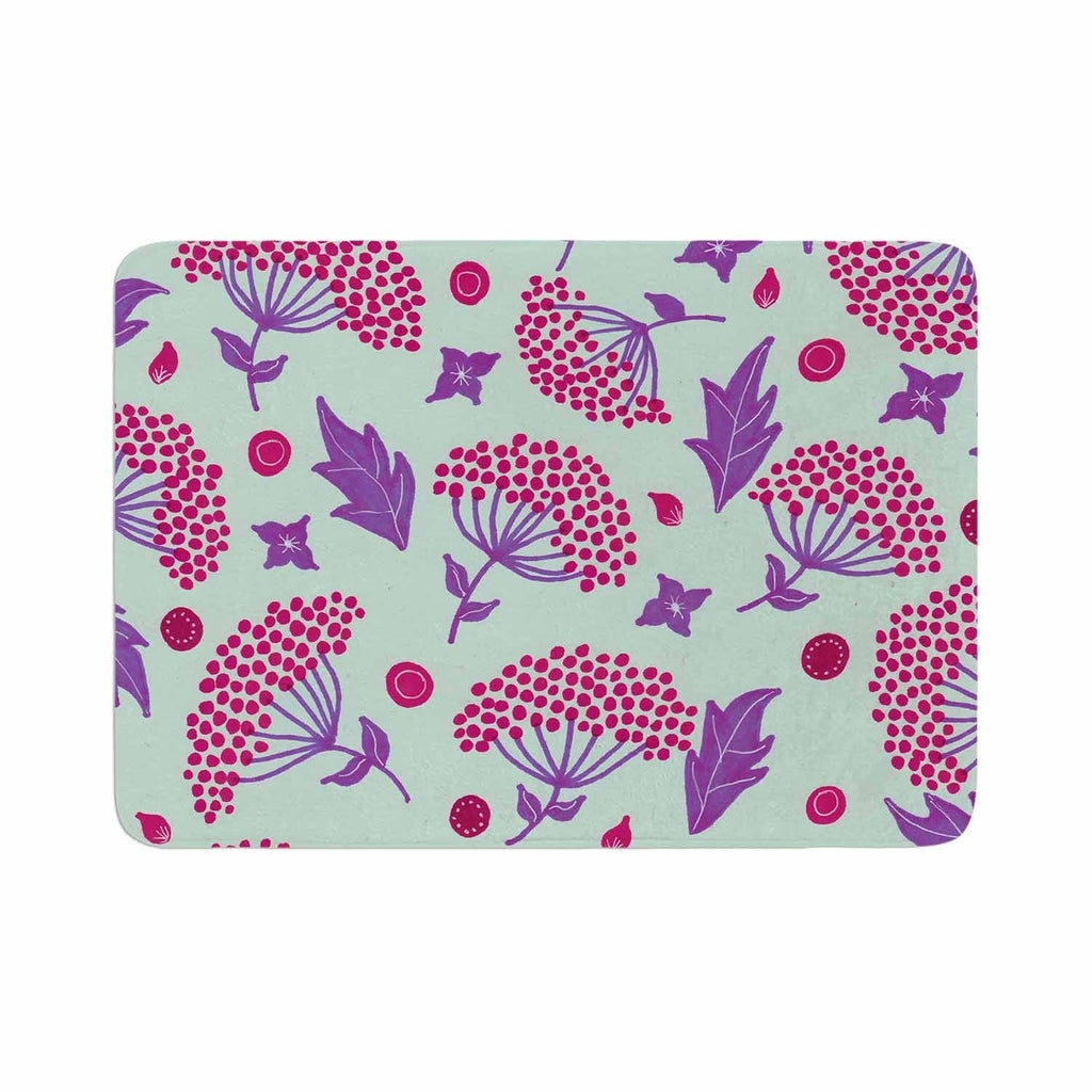 "Viviana Gonzalez ""Spring Vibes Viii"" Memory Foam Bath Mat Purple Single Piece - Diamond Home USA"