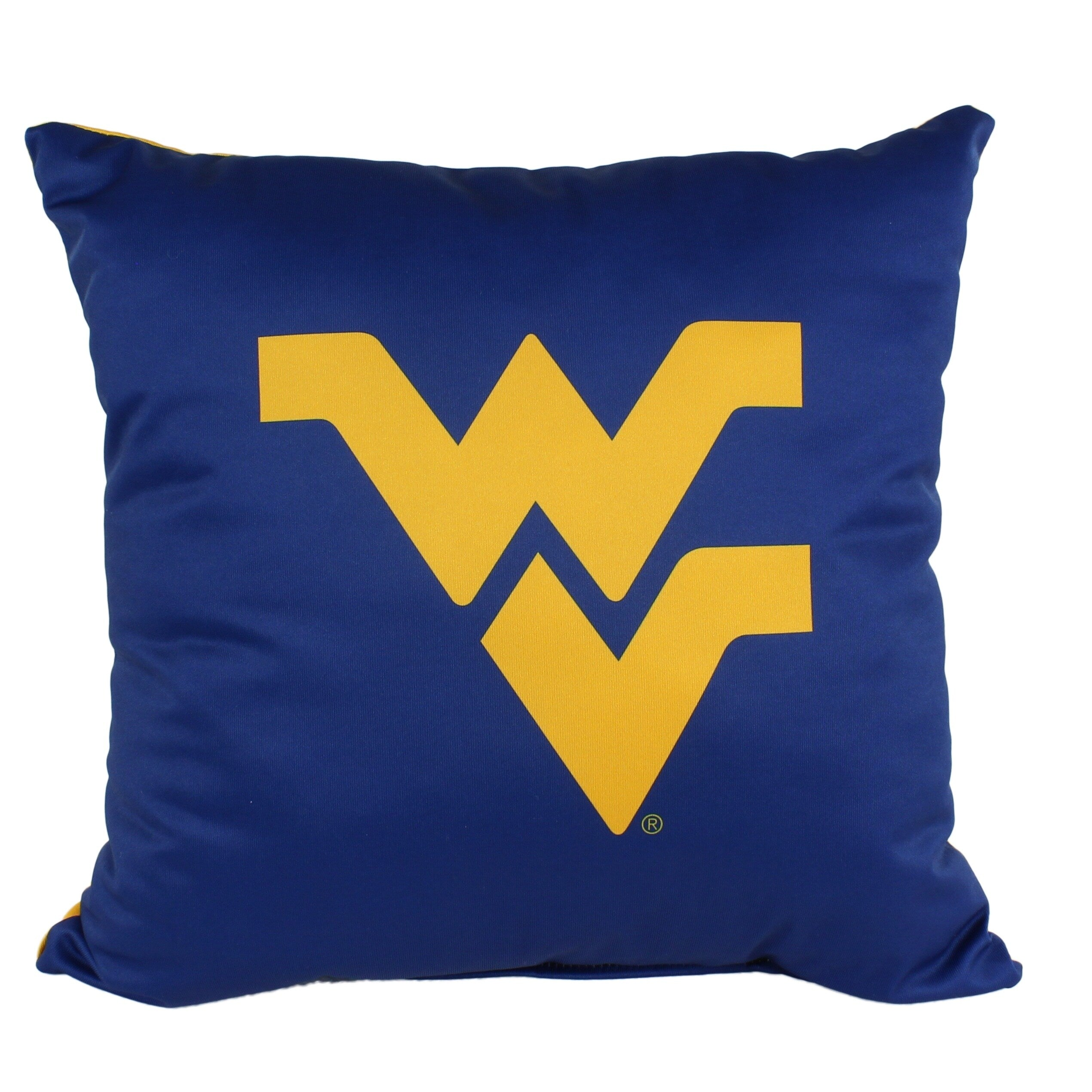West Virginia Mountaineers 16 Inch Decorative Throw Pillow Multi Color Sports Traditional Polyester One Single Reversible - Diamond Home USA