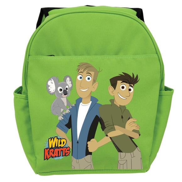 Green Wild Kratts Koala & Kratt Brothers Kids Backpack 19