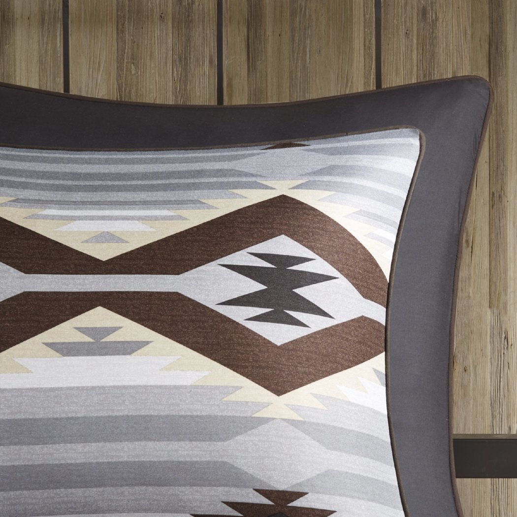 Native American Inspired Comforter Set Diamond Chevron Southwestern Motif Themed Bedding Cabin Tribal South West